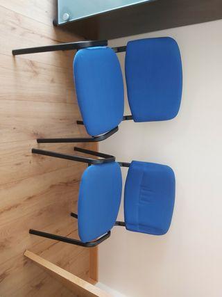 Sillas de oficina azules