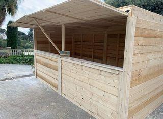 Stand caseta desmontable madera maciza palets