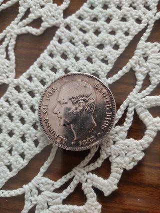 Moneda Plata AlfonsoXII