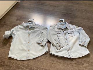 Lote 2 camisas vaqueras