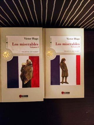 Libro 2 volúmenes Los miserables. Autor Víctor H.