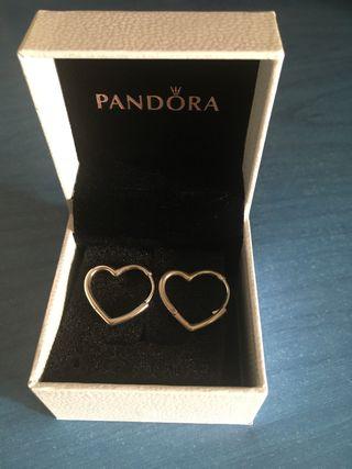 Pendientes Pandora corazón