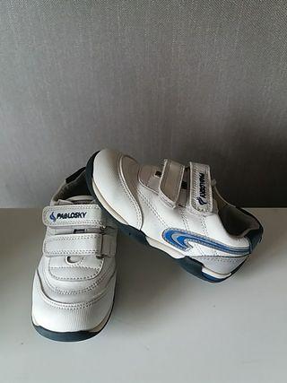 zapatillas Pablosky N° 25 de piel blancas