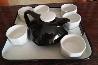 Juego café Moderno - Porcelana Blanco y Negro