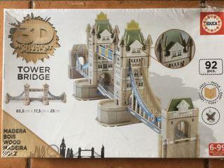 EDUCA Tower Bribge PUZZLE 3D Madera 92 pzas