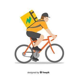 Hago repartos en bicicleta