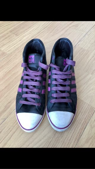 Zapatilla botín de raso Adidas