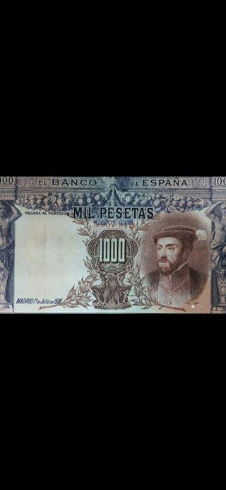 billete de 1000 peseta del 1925