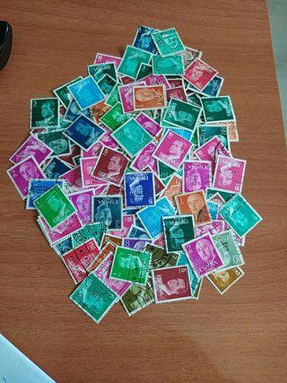 Lote de + de 200 sellos de Franco y el Rey emérito