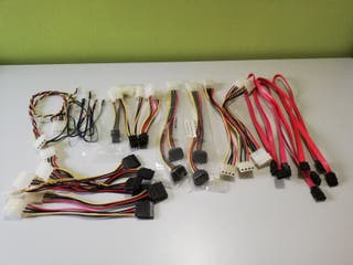 Lote de cables SATA y alimentación para PC