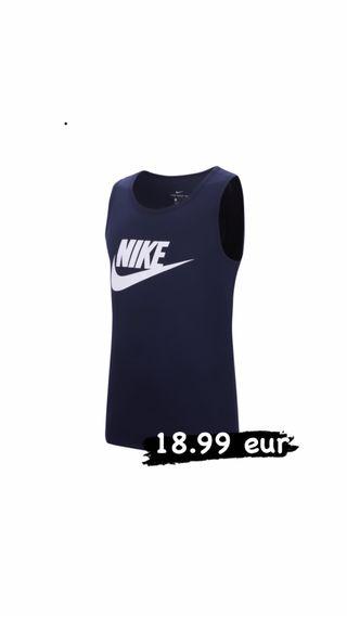 Camiseta sin mangas de deporte Nike (azul)