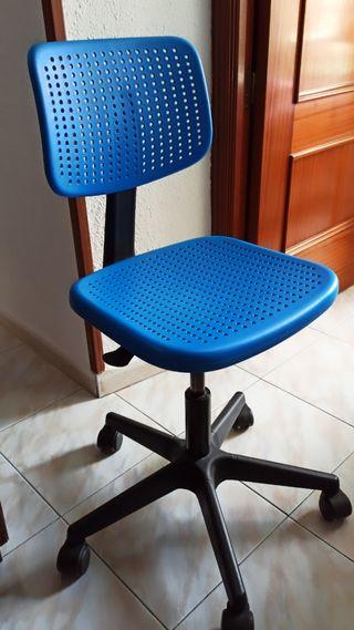 Silla de escritorio infantil azul