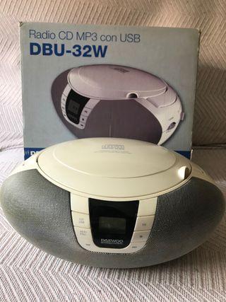Radio CD MP3 con USB Portátil