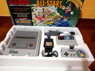 consola super Nintendo SNES PAL en caja