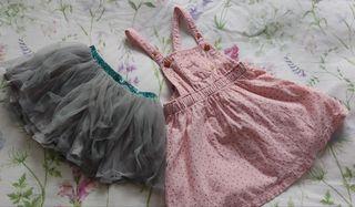 Vestido y falda niña 2-3 años