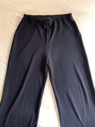 pantalones anchos elásticos de zara