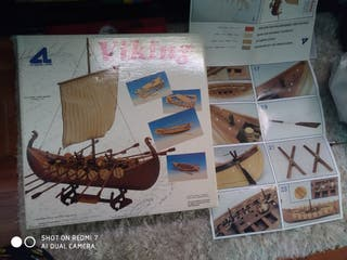 maqueta barco vikingo
