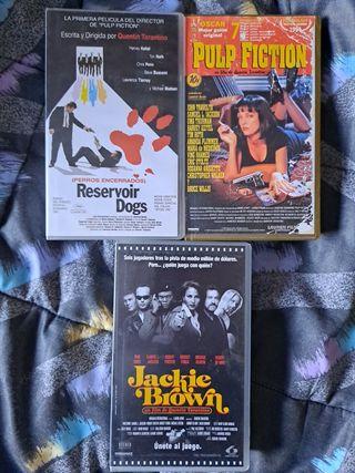 Pack Tarantino en VHS sus 3 primeras películas