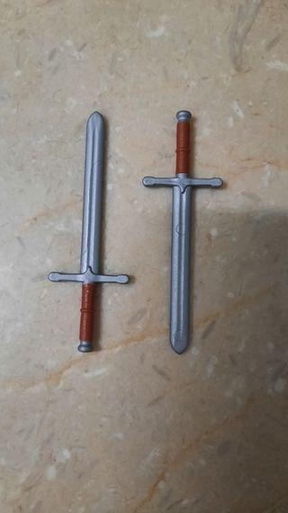 Playmobil medieval 2 espadas