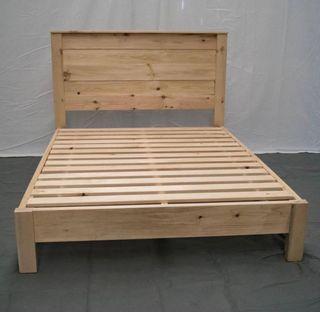 Estructura cama y cabecero madera