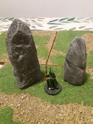 Menhires piedra para juegos rol o wargaming