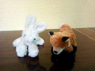 lote 2 peluches mini zorro y conejo