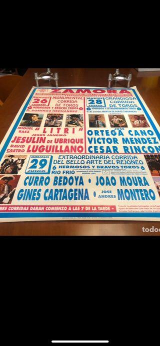 Cartel de Toros Zamora 1994 Jesulin....