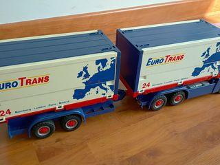 Camión con trailer Eurotrans Playmobil