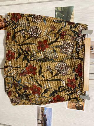 Falda estampado flores Zara Basics