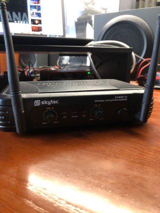 Microfono Inalambrico VHF con Receptor SKYTEC