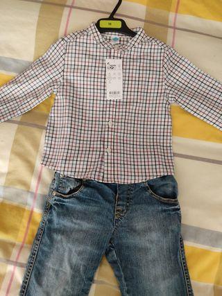 camisa y pantalón bebe