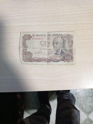 billete de cien pesetas