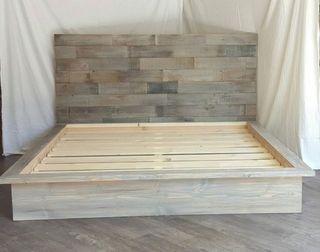 Estructura cama y cabecero madera palets