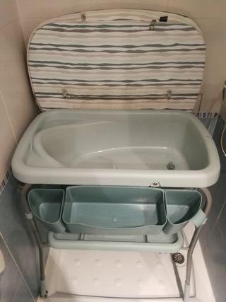 bañera y cambiador Chicco