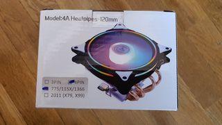 ventilador RGB para procesador INTEL y AMD