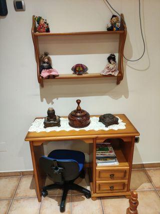 escritorio de pino macizo