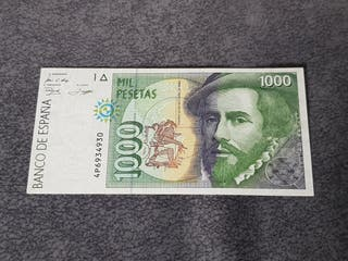 billete de 1000 pesetas de 1992