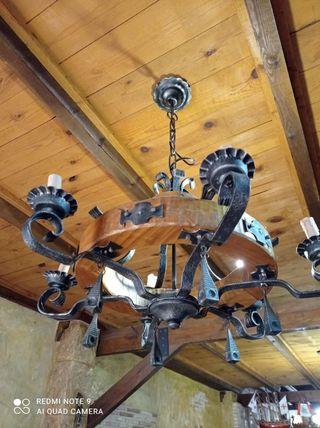 lámpara rústica