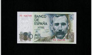 BILLETE 1000 PTS SERIE ESPECIAL 9A PLANCHA