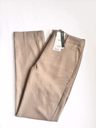 Pantalón skinny beige nuevo con etiqueta
