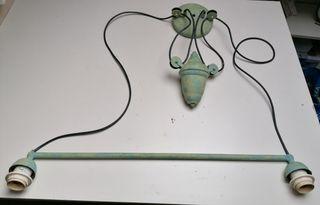 lámpara de techo con peso regulable en altura