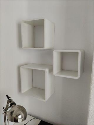 Set de 3 estanterías cubo