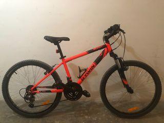 Bicicleta niñ@ rockrider 500 roja