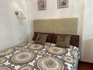 Cabecero 135 cm + canapé colchón + colchoncillo