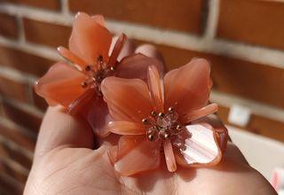 Pendientes con forma de flor