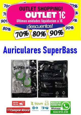 Auriculares SuperBass