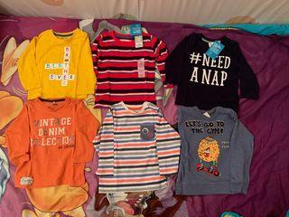 Lote camisetas manga larga 12-18 meses
