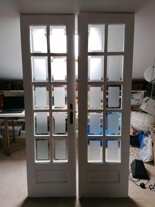 puerta doble hoja