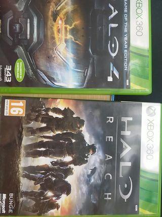 HALO 4 y HALO REACH Xbox 360