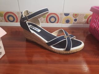 zapato plataforma señora